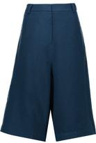 Tibi Aurora Wool-Crepe Shorts