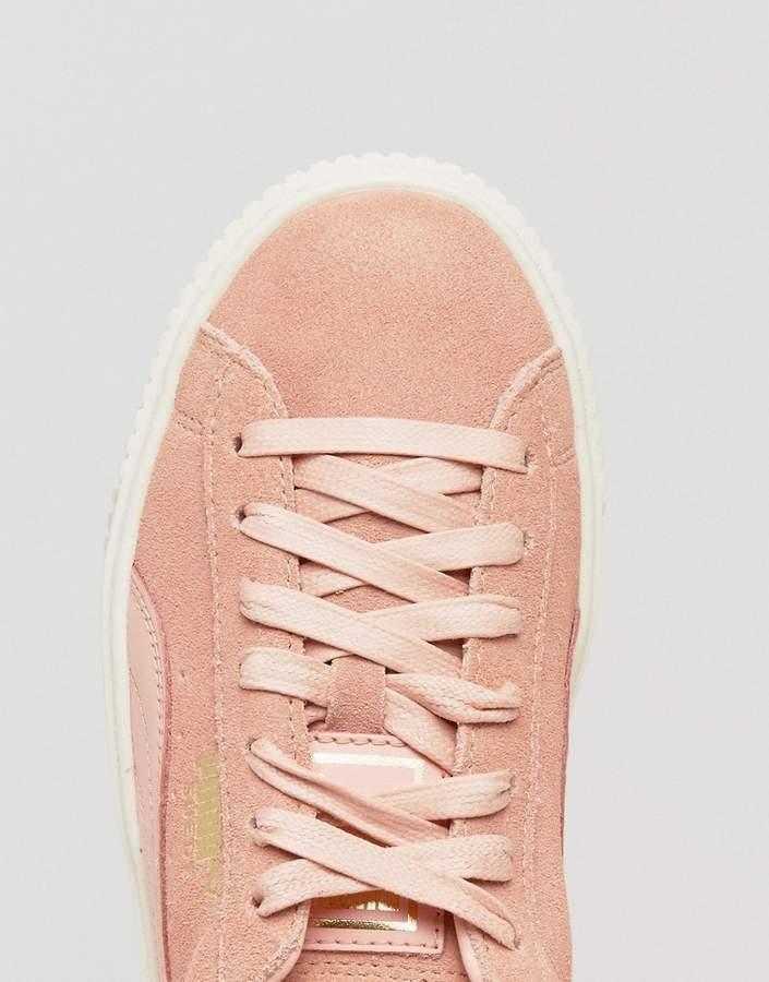 Puma Suede Platform Sneaker In Pink