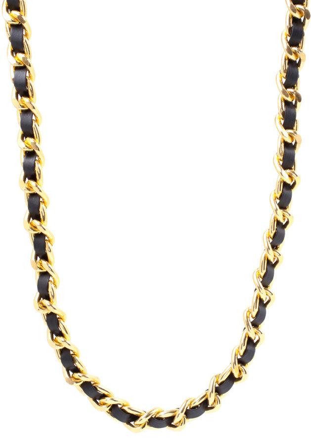 Asos Long Threaded Chunky Curb Chain Necklace