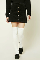 Forever 21 FOREVER 21+ Cable Knit Over-The-Knee Socks