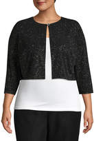 Scarlett 3/4 Sleeve Shrug - Plus