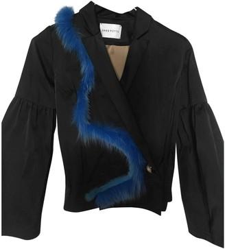 Saks Potts Black Silk Jacket for Women
