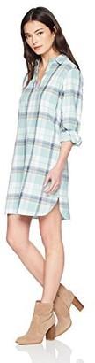 Pendleton Women's Petite Popover Cotton Plaid Dress Aquifer X-Large
