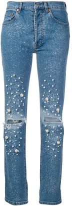 Couture Forte Dei Marmi embellished straight-leg jeans