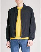 BOSS Stand-collar shell bomber jacket