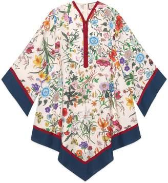 Gucci Kimono style dress with Flora print