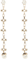 Steve Madden Synthetic Pearl Dangling Chain Earrings