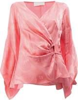 Peter Pilotto wrap front blouse