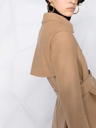 Harris Wharf London Pressed Wool Trench Coat