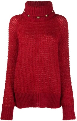 Balmain Button Detail Turtleneck Jumper