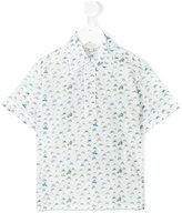 Cashmirino Printed polo shirt