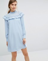 Vero Moda High Neck Ruffle Mini Dress