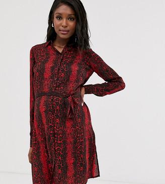 Mama Licious Mamalicious snake shirt dress