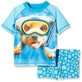 Pumpkin Patch Boy's Underwater Harry Rash Set Swim Shorts,3 Years (Manufacturer Size:1)