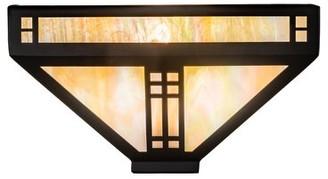 Tiffany & Co. Meyda 1-Light Prairie Loft Wall Sconce Meyda Finish: Craftsman Brown