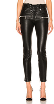 Unravel Lace Front Skinny Leather Pants