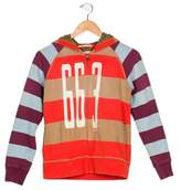 Scotch & Soda Boys' Striped Zip-Up Hoodie