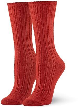 Hue Women's Temp Tech Tuck Stitch Ribbed Sock