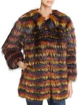 Maximilian Furs Multicolored Fox Fur Coat
