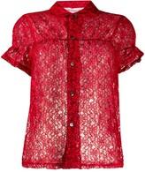 Comme des Garcons sheer lace shirt