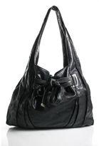 Kooba Black Leather Single Strap Hobo Shoulder Handbag