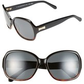 Kate Spade 57mm Polarized Sunglasses