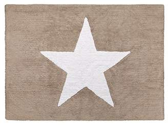 Camilla And Marc Happy Decor Kids Baby Washable Rug (120 x 60 cm, Linen Star White)