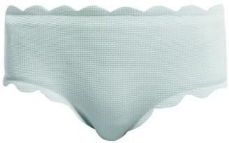 Marysia Swim Spring Scallop-edged Bikini Briefs - Womens - Light Blue