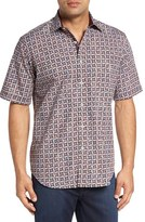 Bugatchi Men's Classic Fit Short Sleeve Sport Shirt