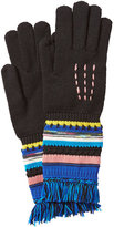 Missoni Wool Gloves with Striping and Fringe