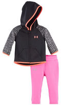 Under Armour Baby Girls Two-Piece Patternblock Hoodie and Leggings Set