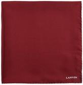 Lanvin Logo-print silk pocket square