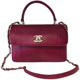 Chanel Coco Handle Pink Python Handbags