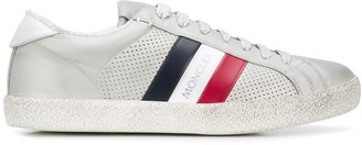 Moncler Distressed-Effect Stripe Detail Sneakers