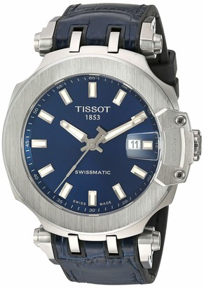 Tissot Men's T-Race Stainless Steel Swiss Automatic Sport Watch with Rubber Strap