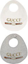 Gucci Kids Baby logo cotton bib set