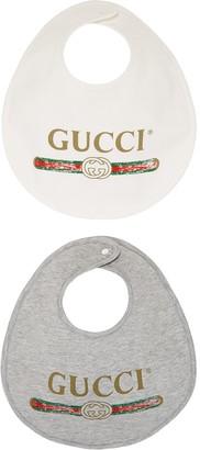 Gucci Kids Baby Gucci logo cotton bib set