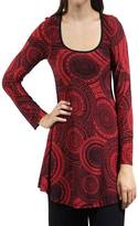 24/7 Comfort Apparel Oriental Printed Tunic