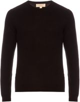 Burberry Long-sleeved cashmere and cotton-blend sweater