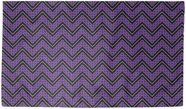 Brayden Studio Stephenie Hand Drawn Chevron Purple Black Area Rug Rug Size Rectangle 3 X 5 Shopstyle