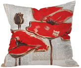 DENY Designs Irena Orlov Red Perfection Throw Pillow
