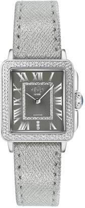 Gevril Womens Padova Swiss Diamond Leather Watch, 28.5mm - 0.014 ctw