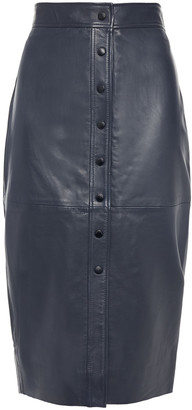 Equipment Textured-leather Pencil Skirt