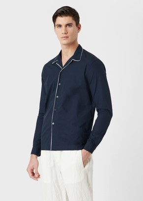 Giorgio Armani Regular-Fit Shirt With Contrasting Piping And Lapels