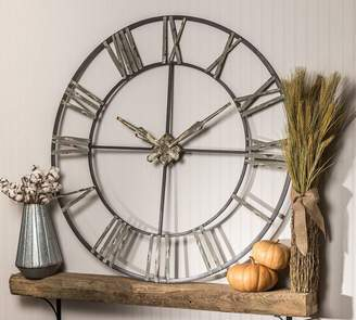 Pottery Barn Oversized Galvanized Wall Clock