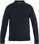 A.P.C. Ricky long-sleeved wool polo shirt