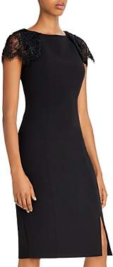 Eliza J Lace Accent Sheath Dress