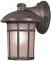 Minka Lavery The Great Outdoors GO 8252-PL Energy Star Rated Transitional Single Light Outdoor Wall Sconce from the Cransto, Vintage Rust