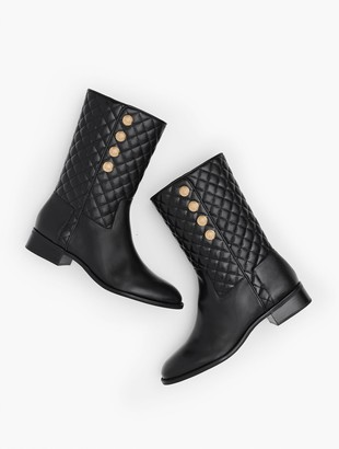 Talbots Tish Quilted Mid-Calf Boots - Nappa