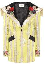 Gucci Embellished cotton and silk jacket